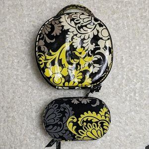 *Vera Bradley Hatbox Cosmetic Case & Jewelry  Box